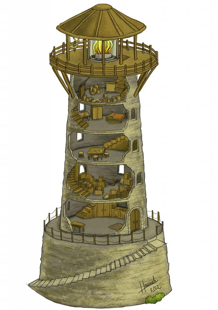 Damit den Helden ein Licht aufgeht: Ausführliche Karte eines Leuchtturms von Hannah Möllmann.