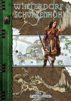 Spielhilfe Winterdorf und Schurkenhöhle zum Kartenzeichnen von Hannah Möllmann