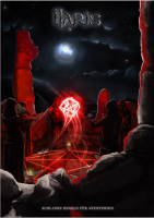 Eine Gruppe Kultisten beschwört einen rotleuchtenden W20 im fahlen Mondlicht